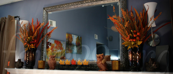 Autumn Fireplace Decorations