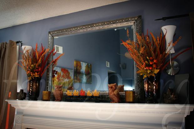 Autumn Fireplace Decorations