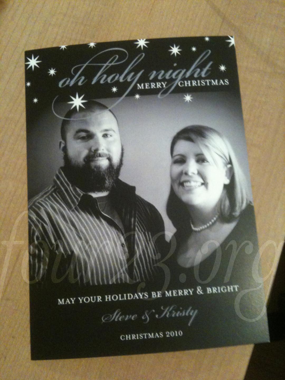 Christmas Card Shutterfly Steve Kristy